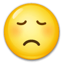 Disappointed Face Emoji on LG Phones