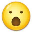 Face With Open Mouth Emoji on LG Phones