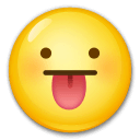 Face With Tongue Emoji on LG Phones