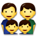 Family: Man, Man, Boy, Boy Emoji on LG Phones