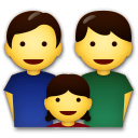 Family: Man, Man, Girl Emoji on LG Phones
