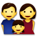 Family: Man, Woman, Girl Emoji on LG Phones