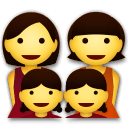 Family: Woman, Woman, Girl, Girl Emoji on LG Phones