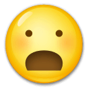 Frowning Face With Open Mouth Emoji on LG Phones