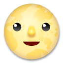 Full Moon Face Emoji on LG Phones