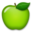 Green Apple Emoji on LG Phones