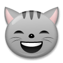 Grinning Cat With Smiling Eyes Emoji on LG Phones