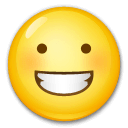 Grinning Face Emoji on LG Phones