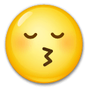 Kissing Face With Closed Eyes Emoji on LG Phones
