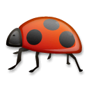 Lady Beetle Emoji on LG Phones