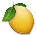 Lemon Emoji on LG Phones