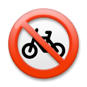 No Bicycles Emoji on LG Phones