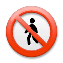 No Pedestrians Emoji on LG Phones