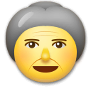 Old Woman Emoji on LG Phones