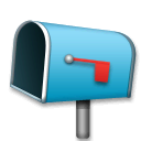 Open Mailbox With Lowered Flag Emoji on LG Phones