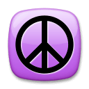 Peace Symbol Emoji on LG Phones