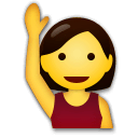 Person Raising Hand Emoji on LG Phones