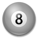 Pool 8 Ball Emoji on LG Phones