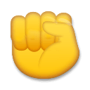 Raised Fist Emoji on LG Phones