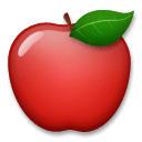 Red Apple Emoji on LG Phones