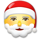 Santa Claus Emoji on LG Phones