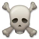 Skull and Crossbones Emoji on LG Phones