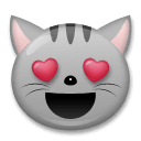 Smiling Cat With Heart-Eyes Emoji on LG Phones