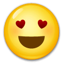 Smiling Face With Heart-Eyes Emoji on LG Phones