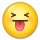 Squinting Face With Tongue Emoji on LG Phones