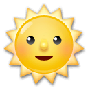 Sun With Face Emoji on LG Phones