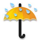 Umbrella With Rain Drops Emoji on LG Phones