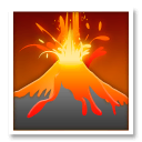 Volcano Emoji on LG Phones