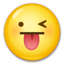 Winking Face With Tongue Emoji on LG Phones