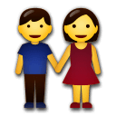 Woman And Man Holding Hands Emoji on LG Phones