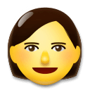 Woman Emoji on LG Phones
