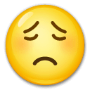 Worried Face Emoji on LG Phones
