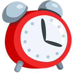 Alarm Clock Emoji in Messenger