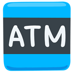 ATM Sign Emoji in Messenger