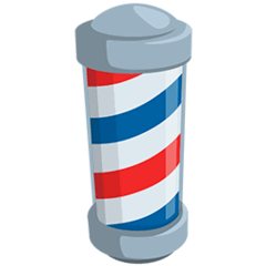 Barber Pole Emoji in Messenger