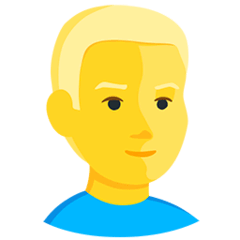 Blond-Haired Person Emoji in Messenger