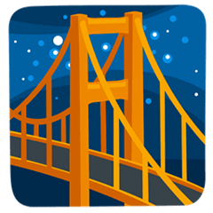Bridge at Night Emoji in Messenger