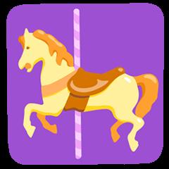 Carousel Horse Emoji in Messenger