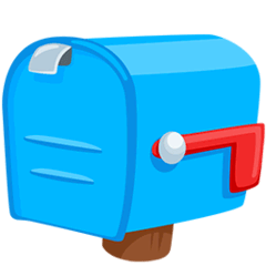 Closed Mailbox With Lowered Flag Emoji in Messenger