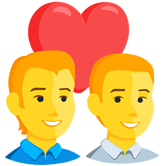 Couple With Heart: Man, Man Emoji in Messenger