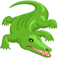 Crocodile Emoji in Messenger