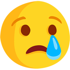 Crying Face Emoji in Messenger