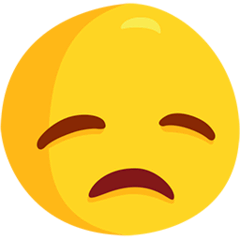 Disappointed Face Emoji in Messenger