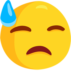 Downcast Face With Sweat Emoji in Messenger