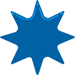 Eight-Pointed Star Emoji in Messenger