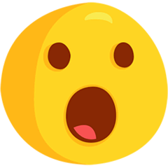 Face With Open Mouth Emoji in Messenger
